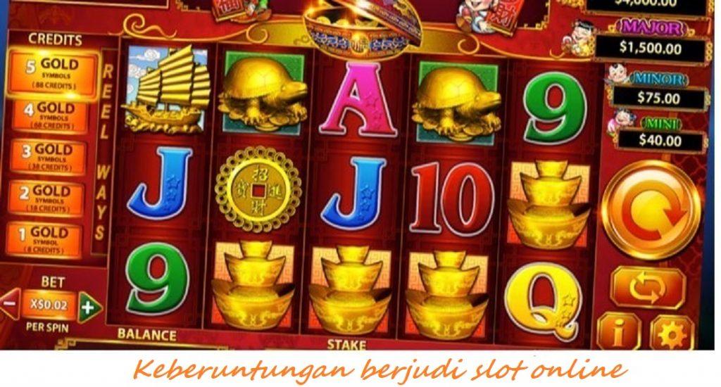 Keberuntungan berjudi slot online